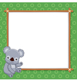 A Koala with white blank vector image