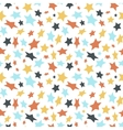 Colored flat stars on white seamless pattern vector image