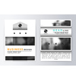Cover design gray and white Template brochure vector image