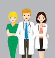 Doctor And Nurse Team vector image