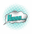 hmm comic book sound effect speech bubble in pop vector image