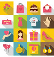 mothers day icons set flat style vector image