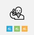 of shopping symbol on speech vector image