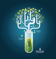 Science concept design template vector image