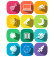 Science symbols on color icons vector image