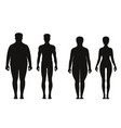 silhouette of fat and thin peoples weight loss of vector image