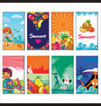 summer holiday templates vector image