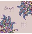 wavy doodle card vector image