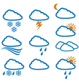 weather icons - weather buttons vector image