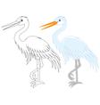 Egret vector image