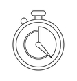 stopwatch fast delivery symbol outline vector image
