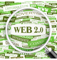 WEB2 0 vector image
