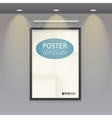 White poster template with frame on a rope vector image vector image
