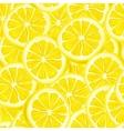 Sliced lemon seamless background vector image