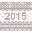 New year beige knitted background vector image