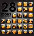 golden icon set vector image