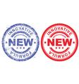 Stamp revolutionary new innovative formula vector image