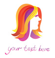 beauty logo - pretty woman - vector image vector image