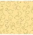 seamless dinosaur pastel vector image