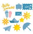 beach sneaker summer set web icon vector image