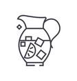 lemonade pitchersangriabewerage line icon vector image