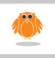 Owl icon in orange color on white background vector image