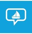 Sailing ship message icon vector image