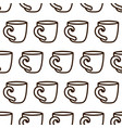coffee cup seamless pattern cute black and vector image