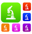 microscope set collection vector image vector image