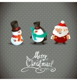 Cute Christmas Characters vector image vector image