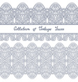 Set of Vintage Template with Ornate Laces vector image