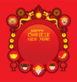 Chinese New Year Icons Label and Frame vector image