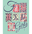 Fashion Girls patchwork vector image