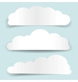 set of cloud-shaped paper banners vector image vector image