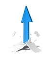arrow growth concept vector image