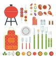 bbq set of tools vector image