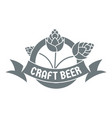 brewery logo simple gray style vector image