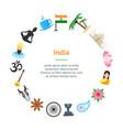 cartoon india banner card circle vector image