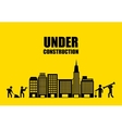 city under construction isolated icon design vector image