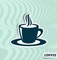 Coffee menu card vector image