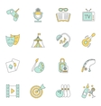 Entertainments icons flat vector image