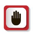 hands icon vector image