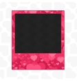 Heart photo frame vector image