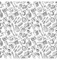 kitchen doodles vector image