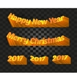 Merry christmas and happy new year 2017 writing on vector image