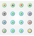 Poker chips bright signs vector image