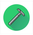 razor icon on circle background vector image