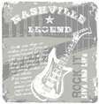 rock music legend vector image