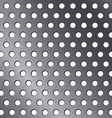 Silver pattern background Metallic circle texture vector image