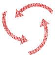 swirl arrows fabric textured icon vector image